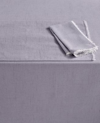 """French Perle 60"""" x 84"""" Violet Tablecloth"""