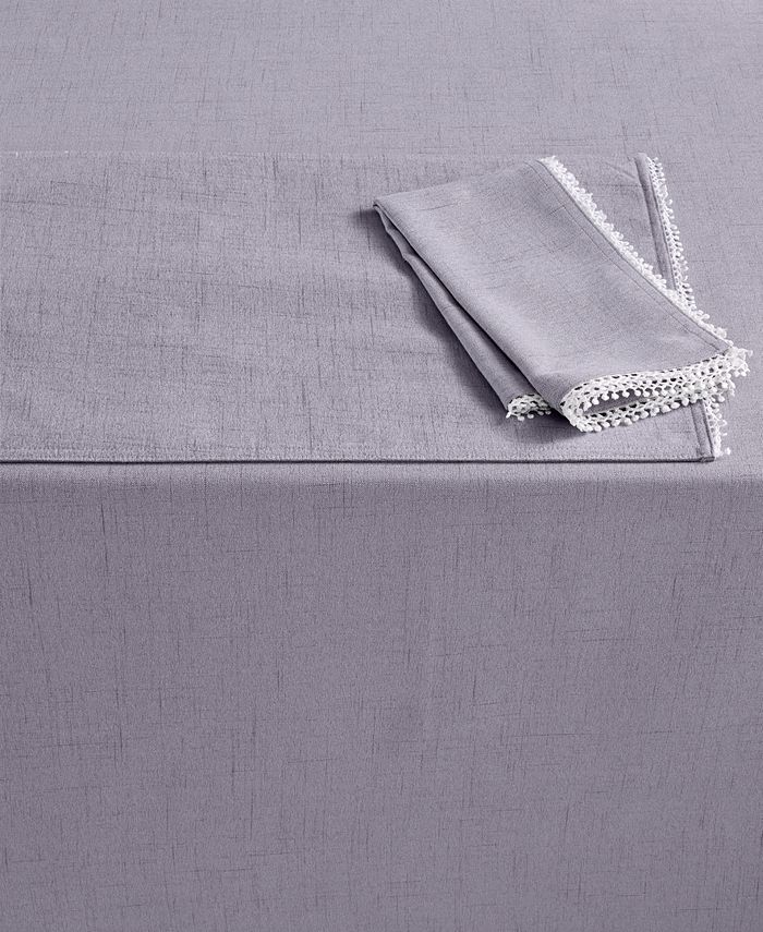 """Lenox - French Perle Collection 102"""" Oblong Violet Tablecloth"""