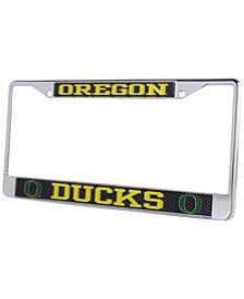 Stockdale Oregon Ducks Carbon Laser License Plate Frame