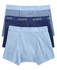 Alfani Men's Knit Tagless Slim Fit Stretch Trunks 3-Pack, Created for Macy's