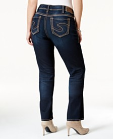 Silver Jeans Co. Plus Size Suki Straight-Leg Jeans