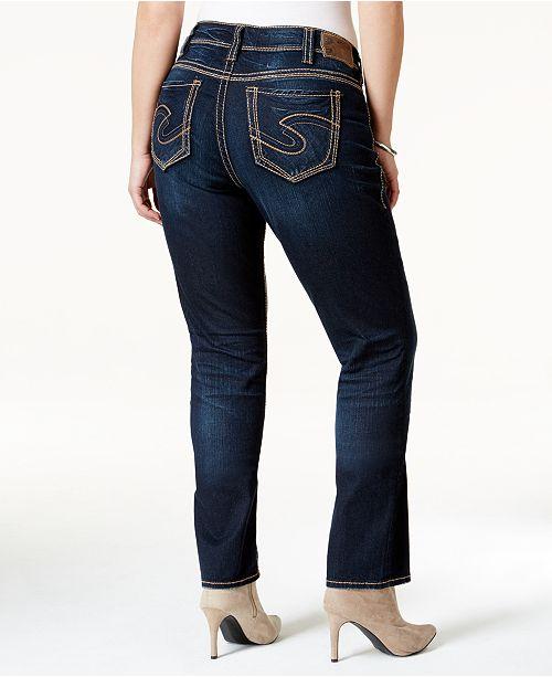 2befafca Plus Size Suki Straight-Leg Jeans; Silver Jeans Co. Plus Size Suki Straight-Leg  Jeans ...