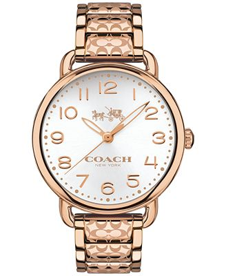 Coach Women S Delancey Rose Gold Tone Ion Plated Stainless Steel