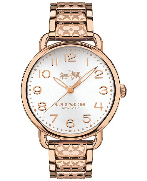 COACH WOMEN'S DELANCEY ROSE GOLD-TONE ION-PLATED STAINLESS STEEL BRACELET WATCH 36MM 14502497