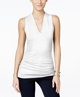 INC International Concepts Sleeveless V-Neck Top, Created for Macy's