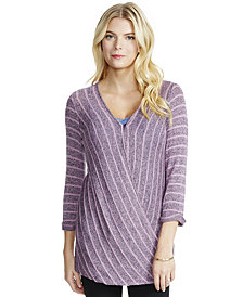 Jessica Simpson Nursing Wrap Top
