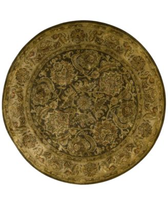 CLOSEOUT! Rajah Kashan Brown 6'  Round Rug
