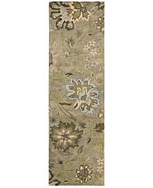 "Rajah Tapestry Silver 2'4"" x 8' Runner Rug"