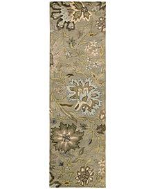 "Nourison Rajah Tapestry Silver 2'4"" x 8' Runner Rug"