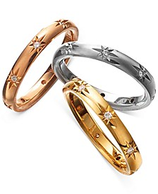 Diamond Bands in 18k Gold, White Gold and Rose Gold, Created for Macy's