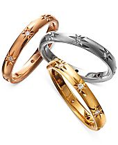 Marchesa Diamond Bands in 18k Gold, White Gold and Rose Gold