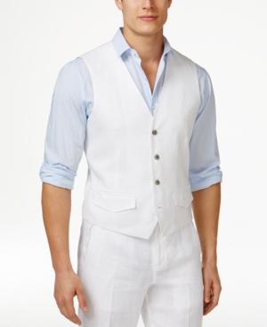 1920s Style Mens Vests Tasso Elba Mens Linen Vest Only at Macys $23.99 AT vintagedancer.com