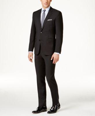 Men's Black Slim-Fit Jacket