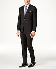 Men's Black Slim-Fit Suit Separates