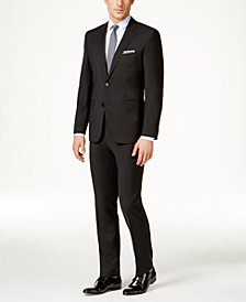 HUGO Men's Black Classic-Fit Suit Separates