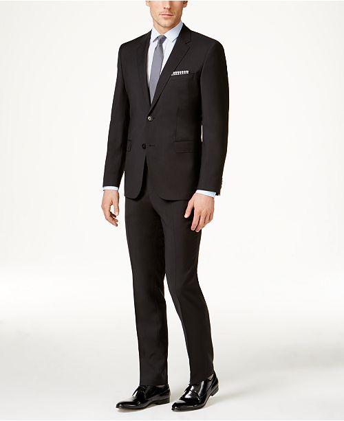 Hugo Boss Men's Black Slim-Fit Suit Separates