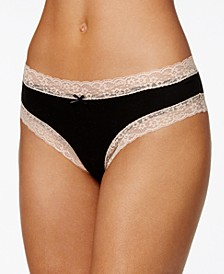 Cotton Cheeky Lace-Trim Hipster Underwear, Created for Macy's