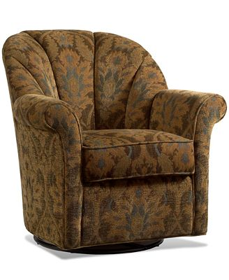 whistle patina living room chair, swivel glide - furniture - macy's