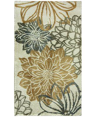 bacova cashlon garden gold bath collection - bath rugs & bath mats