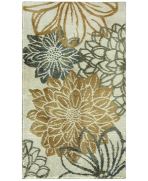 Bacova Cashlon Garden Gold FloralPrint 27 x 45 Bath Rug Bedding