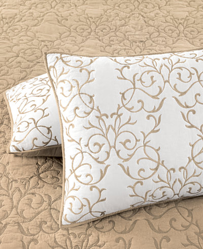 Martha Stewart Collection Cotton Chateau Standard Sham, Created ... : quilts at macys - Adamdwight.com