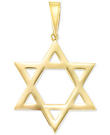 Large Star of David Pendant in 14k Gold