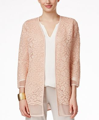 Alfani PRIMA Lace Open-Front Cardigan, Created for Macy's ...