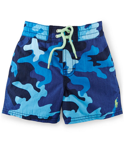 Swim Trunks Our cotton swimsuits for baby boy offer the unique Mud Pie summer style. Available in infant and toddler sizes, these designs are perfect for your little man to romp around the beach!