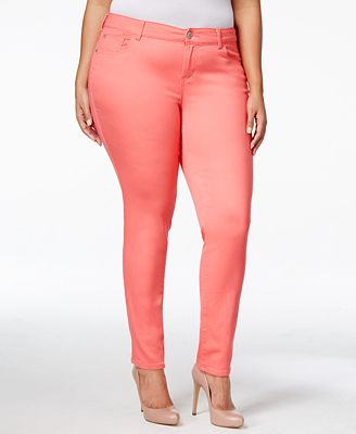 Celebrity Pink Petite Plus Size Skinny Jeans - Jeans - Plus Sizes ...
