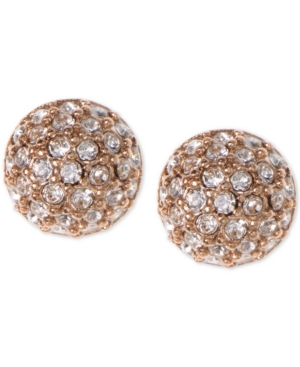 Givenchy-Earrings-Rose-Gold-Tone-Crystal-Button-Earrings