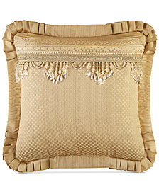 "J Queen New York Napoleon Gold  20"" Square Decorative Pillow"
