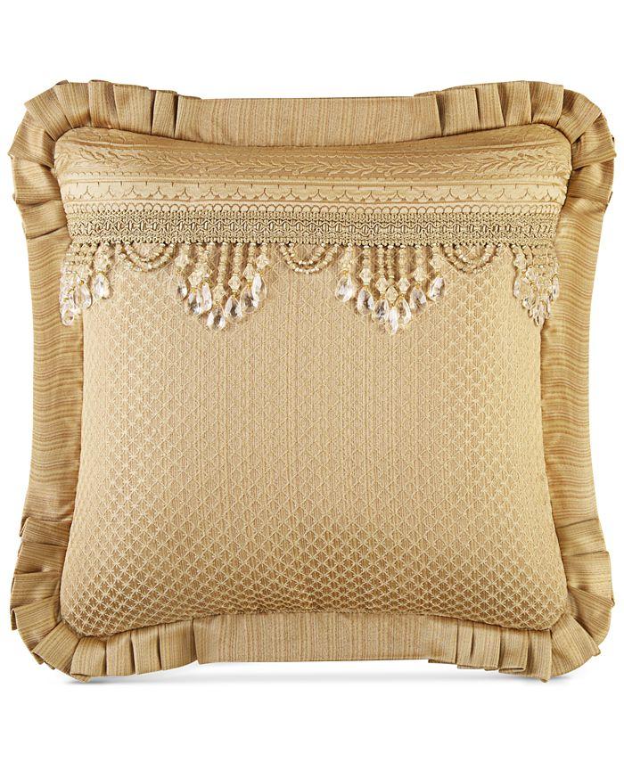 "J Queen New York - Napoleon Gold 20"" Square Decorative Pillow"