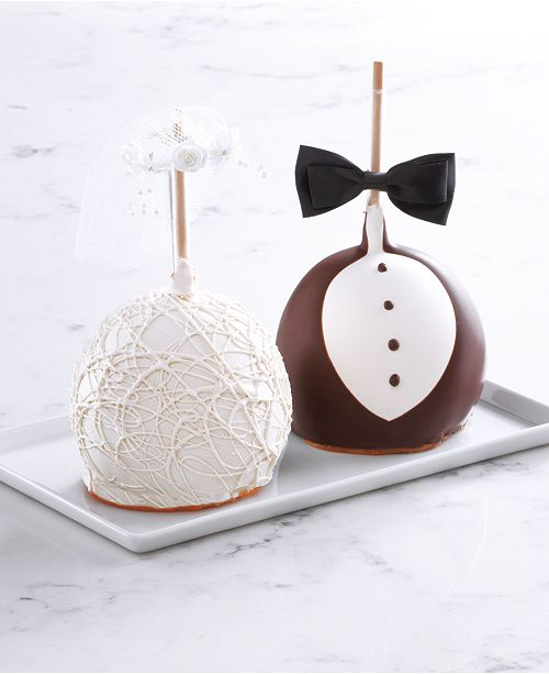 Mrs. Prindables Bride & Groom Jumbo Apple 2-Pack