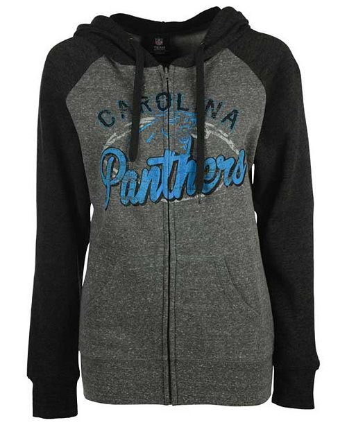5th   Ocean Women s Carolina Panthers Arch Full-Zip Hoodie - Sports ... 6afd4c904
