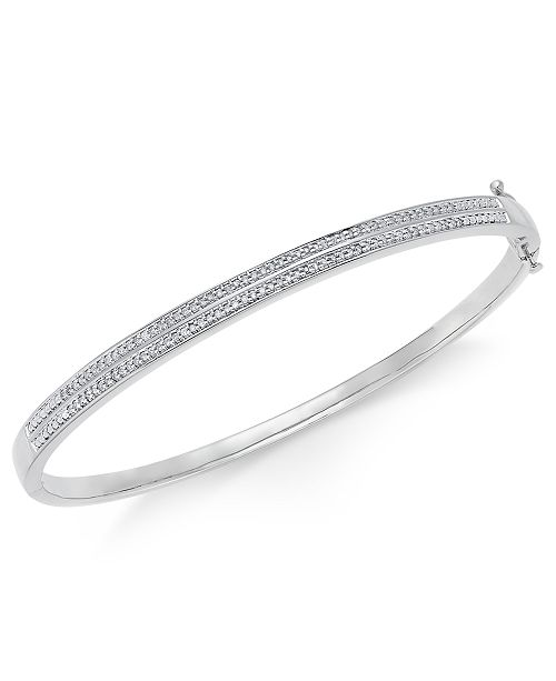 s bracelet bangles tradesy bangle bracelets and onyz diamond i silver macy sterling