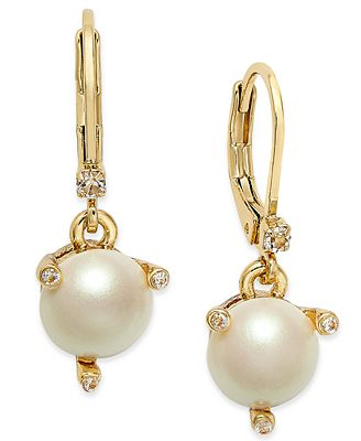 kate spade new york gold tone imitation pearl drop