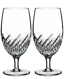 Essentially Wave Collection Iced Beverage Glass Pair