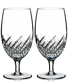 Waterford Essentially Wave Collection Iced Beverage Glasses, Set of 2