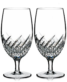 Waterford Essentially Wave Collection Iced Beverage Glass Pair