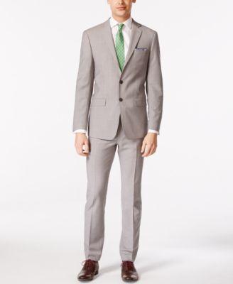 Men's Solid Classic-Fit Suit Pants