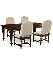 CLOSEOUT! Cortwright 5 Piece Dining Set (Expandable Dining Table & 4 Side Chairs)