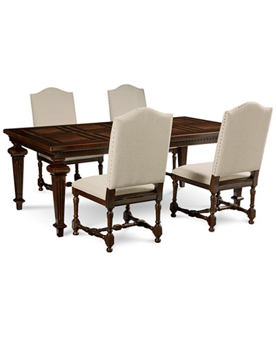 Cortwright 5 Piece Dining Set (Expandable Dining Table & 4 Side Chairs)