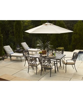 Park Gate Outdoor Cast Aluminum Pc Dining Set  X  Dining - Aluminum dining table