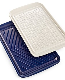 Martha Stewart Collection Set of 2 Prep & Serve Trays, Created for Macy's