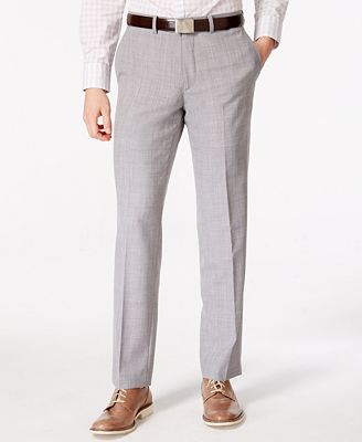 Bar III Men's Light Gray Slim Fit Pants, Only at Macy's - Suits ...
