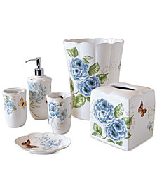 Lenox Blue Floral Garden Bath Collection
