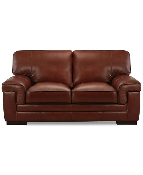 Enjoyable Myars 69 Leather Loveseat Gmtry Best Dining Table And Chair Ideas Images Gmtryco