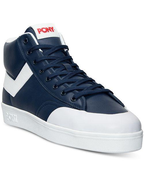 6dc8f284958 ... Pony Men s Vintage Slam Dunk Hi Stadium Casual Sneakers from Finish ...