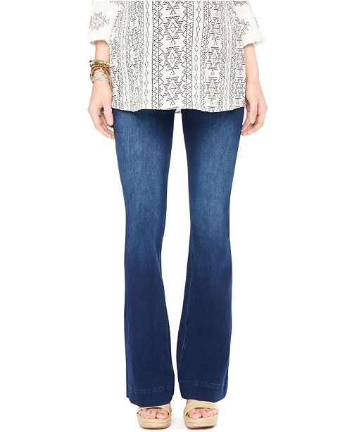 Wendy Bellissimo Flared Dark Wash Maternity Jeans