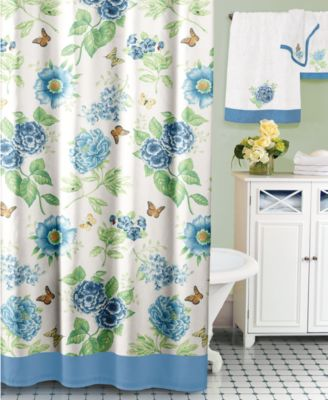 Botanical And Beautiful, The Lenox Floral Garden Bath Collection Delivers  Fresh Picked Flair. Bursts Of Blue Flowers And Fanciful Butterflies Enhance  The ...